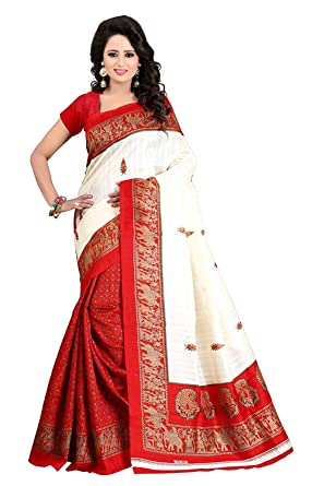 22637fc9b246b Amazon.com  Sarees for Women Party Wear Sarees Traditional Saree Art Silk  2019 in Latest with Designer Blouse Beautiful for Women  Clothing