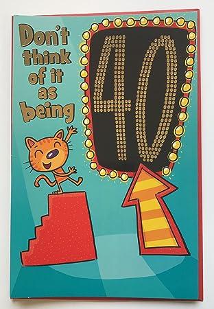 Amazon.com: Edad 40 Fold Out humor 40 hoy tarjeta de ...