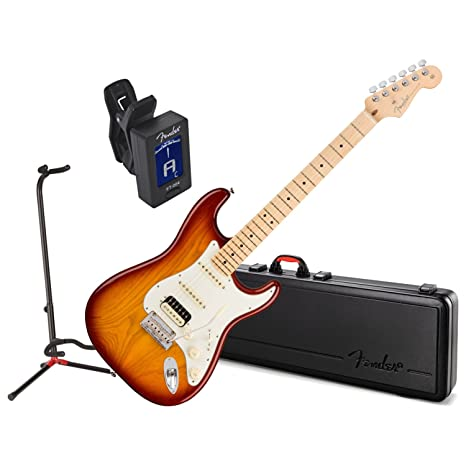 Fender American Pro Strat guitarra eléctrica HHS Shaw MN W/Carcasa ...
