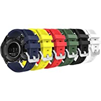 MoKo Bracelet en Silicone Souple [6-Pack] pour Samsung Galaxy Watch 46mm / Gear S3 Frontier / S3 Classic/Motorola / Moto 360 2nd Gen 46mm Smart Watch, Pas Compatible avec S2,S2 Classic,Fit2,coloré