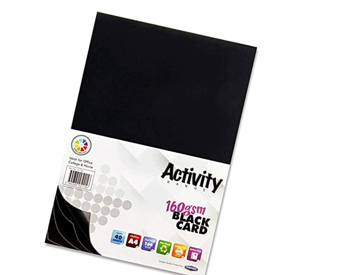 Black Pack of 20 Sheets Premier Stationery A2 160 gsm Activity Card
