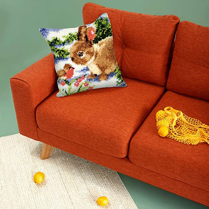 ZD1029 Cute Animal Latch Hook Kits for Beginners DIY Pillow Sofa Cushion Home Ornaments