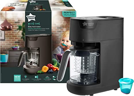 Tommee Tippee Quick Cook Baby Food Maker Black