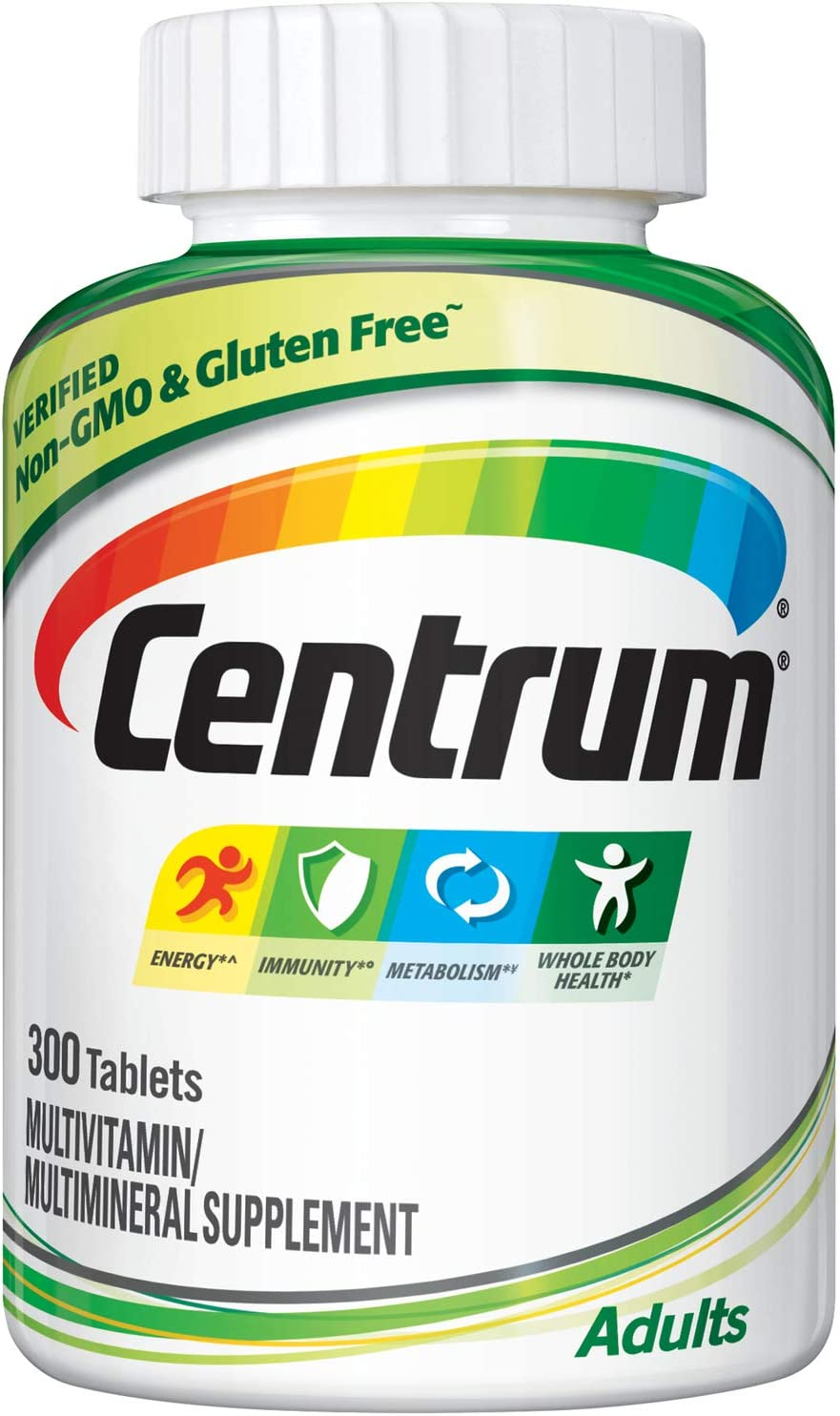 Amazon Com Centrum Adult Multivitamin Multimineral Supplement With Antioxidants Zinc And B Vitamins 300 Count Health Personal Care