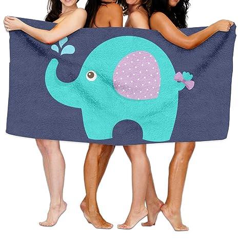 Kayerdelle - Toallas de playa unisex para bebé, elefante, toallas de baño para adolescentes