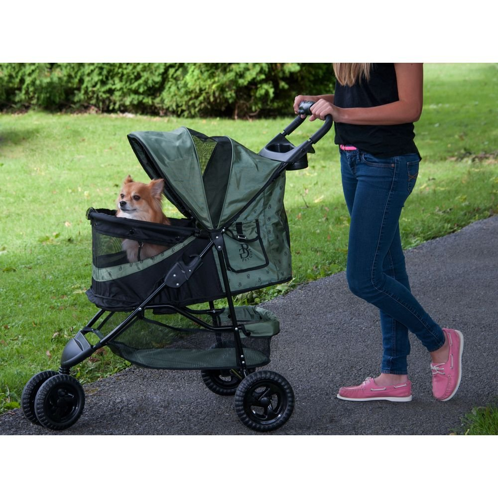 Pet Gear No-Zip Special Edition Pet Stroller, Zipperless Entry, Sage by Vermont Juvenile MFG DBA (Pet Gear) (Image #3)