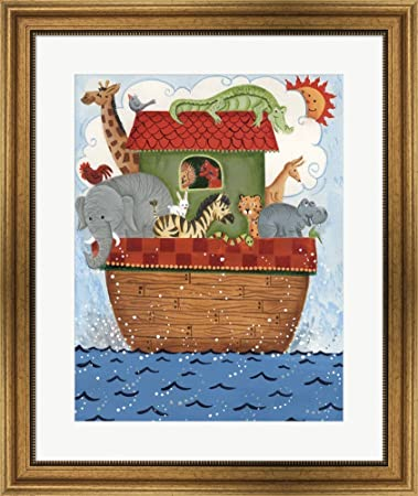 Amazon.com: Noah\'s Ark 2 by Beverly Johnston Framed Art Print Wall ...