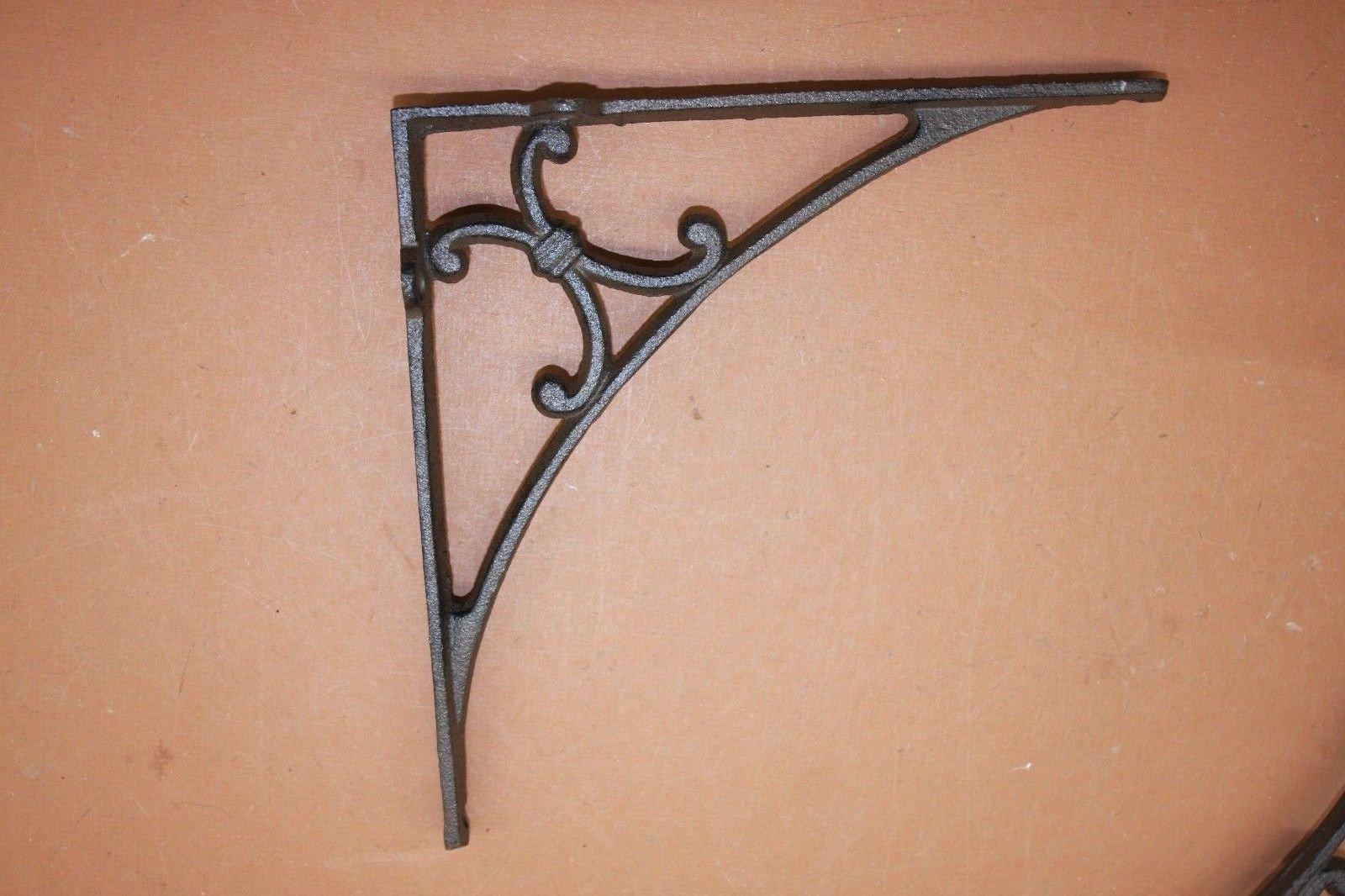 Mission Design Entry way Door Corner Decorative Brackets, Solid Cast Iron 9 3/8 inch, B-50, Set of 2