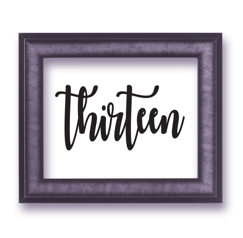 Wedding Table Numbers one to ten (1-10), fifteen (15), or twenty (20) Custom Centerpiece Vinyl Sticker Decals (Frames Not Included) (d)