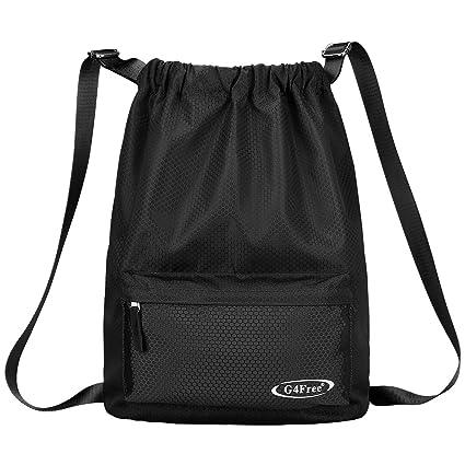 58c2063b724f G4Free Drawstring Backpack Sports Gym Bag 20L Drawstring Bag Cinch Sack Men  Women Gymsack Waterproof Backpack Swim Bag Indoor Outdoor