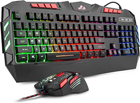 Amazon Com Rii Rgb Led Backlight Wired Gaming Keyboard And Mouse Combo Pc Gaming Keyboard Office Keyboard For Windows Android Mac Xbox Pc Laptop Andriod Tv Box Htpc Business Office Computers Accessories