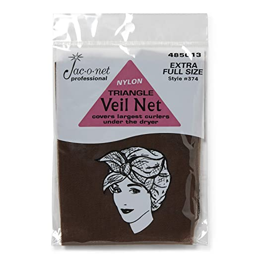 1940s Hairstyles- History of Women's Hairstyles Jac-O-Net Triangle Veil Net $6.15 AT vintagedancer.com