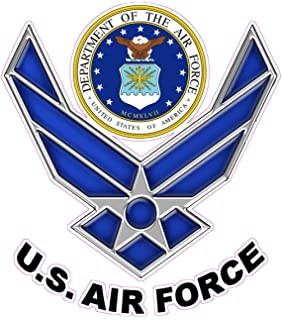 amazon com us air force logo decal sticker 3 8 automotive