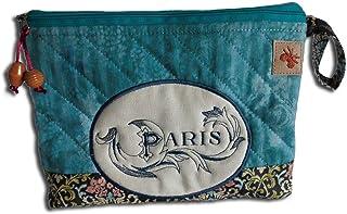 Bestickte Kosmetiktasche Paris - Waschbeutel - Schminktasche - Kulturtasche - Windeltasche