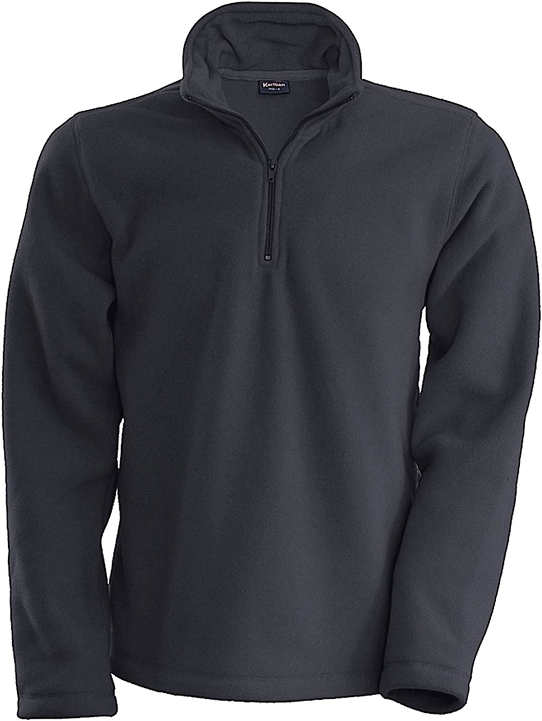 Kariban Mens Enzo 1//4 Zip Up Casual Fleece Jackets