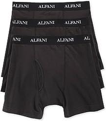 Alfani Mens 3 Pack Stretch Boxer Briefs Underwear $21 Black XL