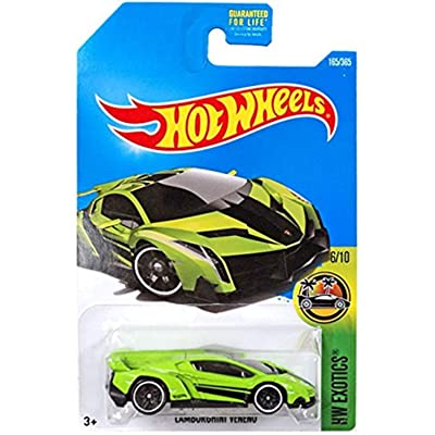 Hot Wheels 2020 HW Exotics Lamborghini Veneno 165/365, Neon Green: Toys & Games