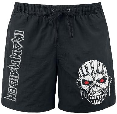 984b25d5c420a Iron Maiden BOS Eddie Swim trunks black L: Amazon.co.uk: Clothing