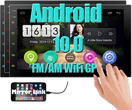 Double Din Car Stereo Android 7 Inch Touch Screen Car Radio in Dash Bluetooth Car MP5 Player Support GPS Navigation Wifi USB SD Mirror Link with Rear View Camera