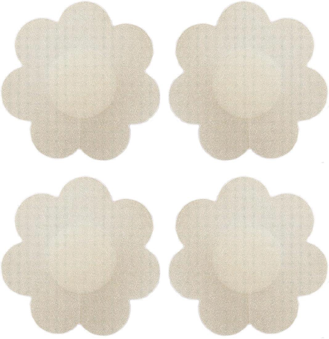 10 Pairs Satin Pasties Women Flower Pasties Disposable Nipple Covers