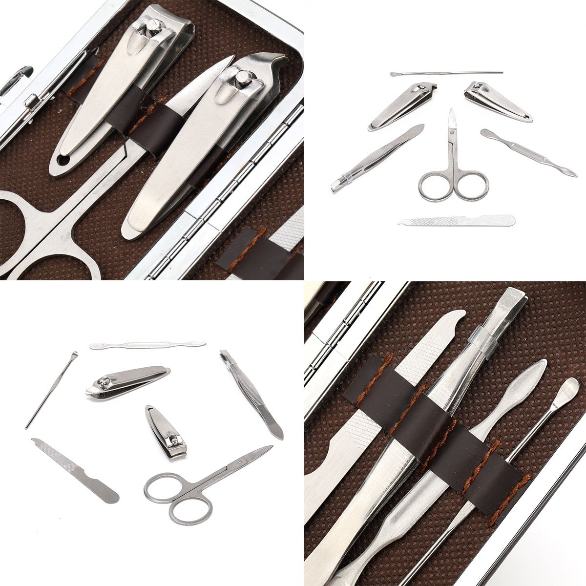 Manicure Pedicure Set 7 Pieces Nail clippers,Stainless Steel Manicure Pedicure Kits with Carrying Case