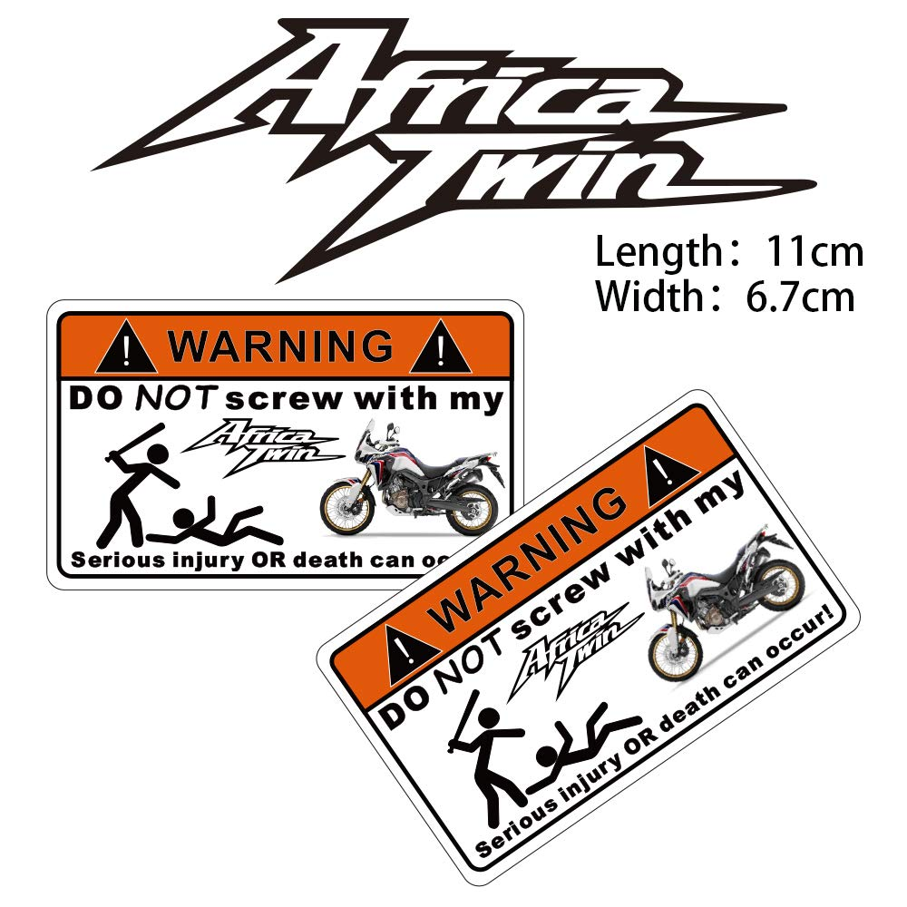PRO-KODASKIN Motorcycle 2 Pieces Warning Sticker Decal for Africa Twin