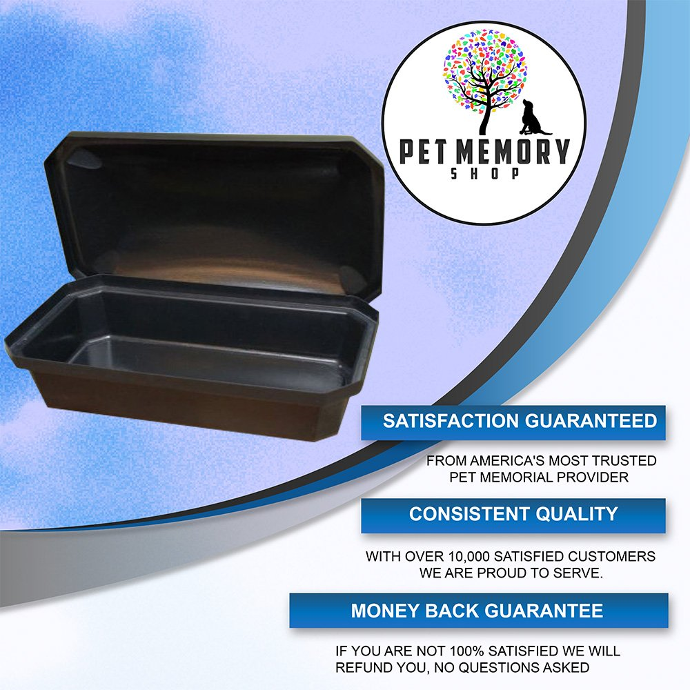Economy Pet Casket - Choose Color - Burial Casket By Pet Memory Shop - America's #1 Pet Coffin for Dogs, Cats, and Other Animals (Medium, Black)