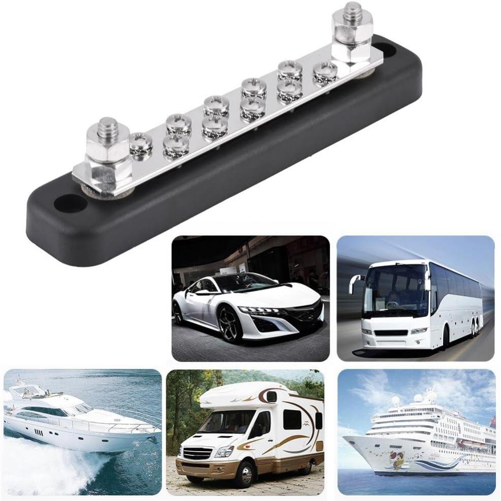 Keenso 10 Positionen Bus Bar Elektrische Terminal Anschlussblock mit Bolzen AC 130A DC 150A f/ür Lkw Caravans Busse Boote