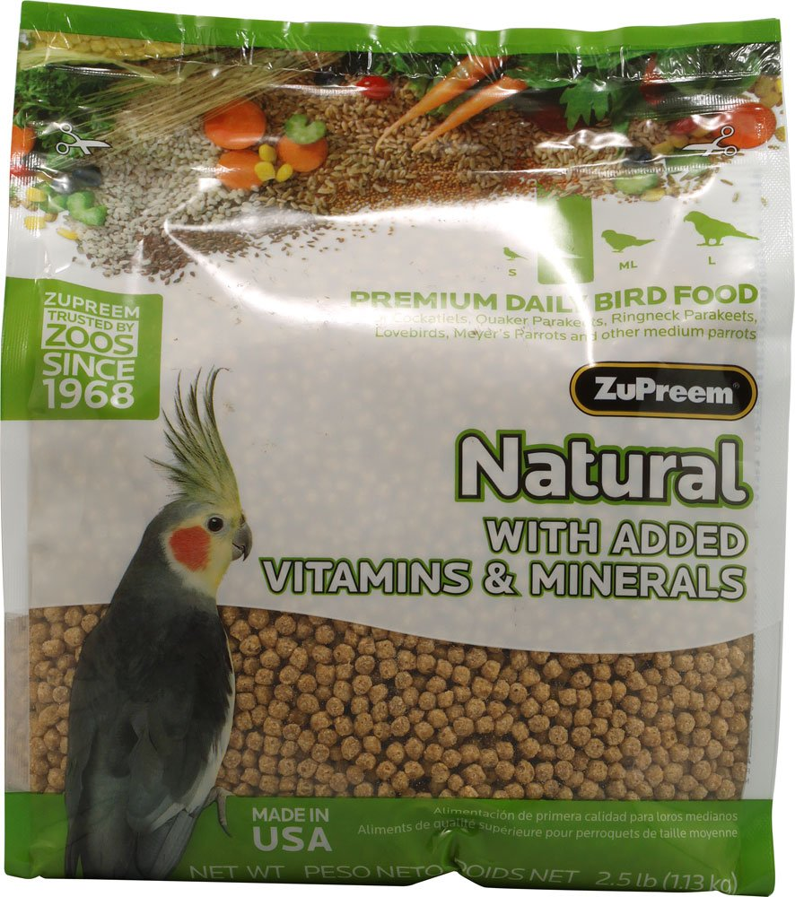 Zupreem 230354 Natural Medium Bird Food, 20-Pound by ZuPreem