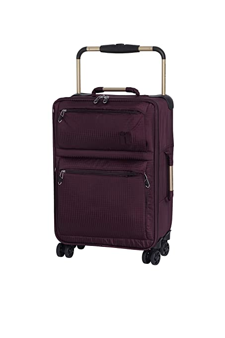 780e5eb3d IT Luggage World's Lightest 55cm Carry-on Four Wheel Spinner Suitcase  Burgundy