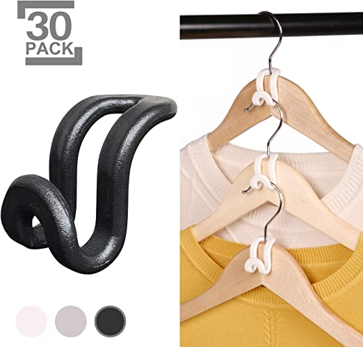 10Pcs The Hanger Store Metal Coat Hangers Single Clip for Scarf Belt Glove Shoe