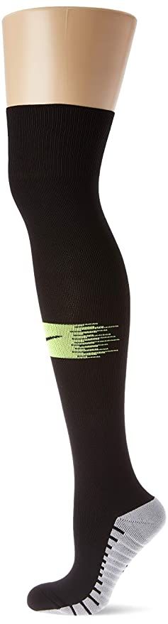 491bb77a575 Amazon.com   Nike Matchfit Knee High Dri-Fit Soccer Socks Black Volt ...