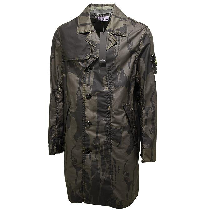 5734P giubbotto trench STONE ISLAND verde camouflage giacca uomo jacket  coat men  S   Amazon.it  Abbigliamento baf74db0111