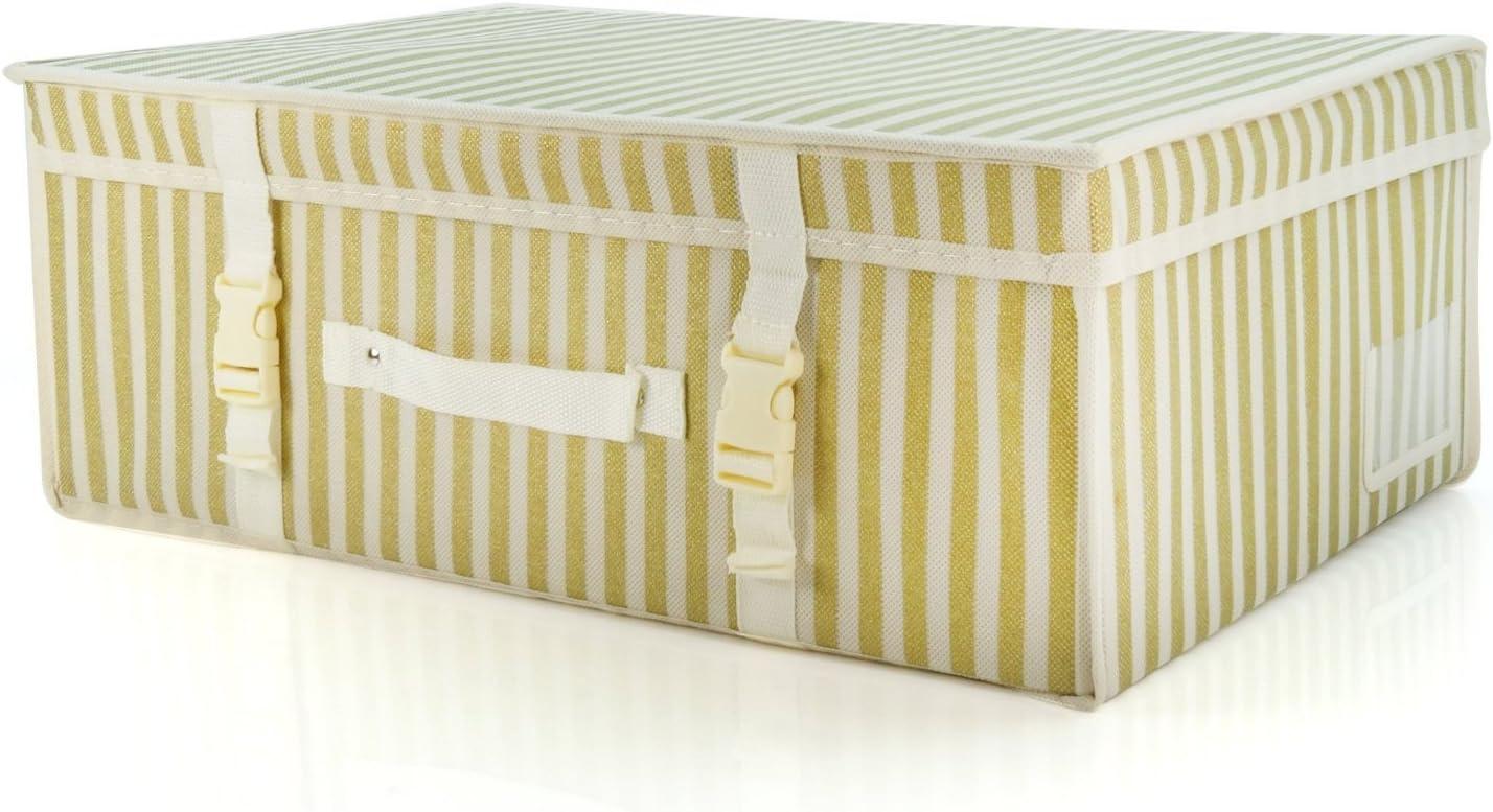 Amazon Com Hangerworld Medium Ivory Gold Wedding Dress Bridal Gown Garment Storage Box And Travel Carry Case Home Kitchen