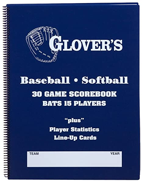 amazon com glover s scorebooks 9 to 15 player baseball softball