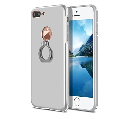 Funda iPhone 7 Plus,Soporte de Anillo PC protección Funda Case Cover con Sorporte con Rotatorio de Agarre Case 360 Degree Anillo Giratorio Carcasa Multi-Funcional Cubierta Fundas
