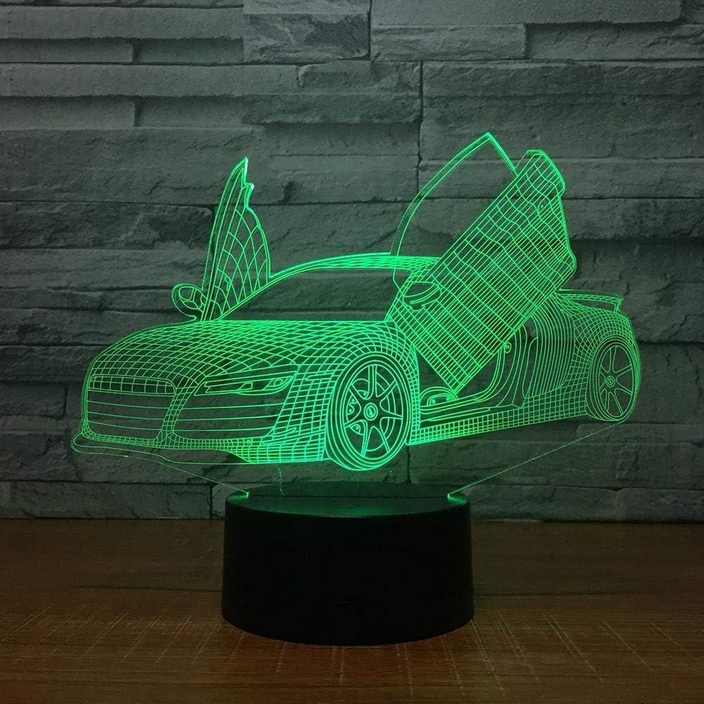 3D Night Light,Cool Super Car Acrílico Lámpara 3D 7 Colores Cambiar Control Remoto Luz De Noche Led Iluminación Para Dormir Para Bebés Decoración De Arte Para El Hogar Regalo De Vacaciones