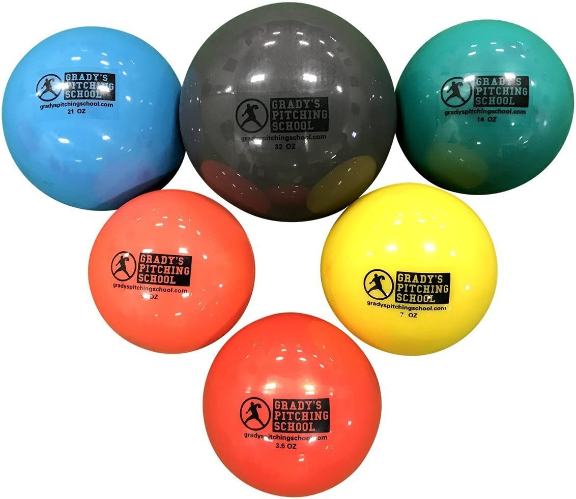 Amazon Com Plyo Soft Shell Weighted Ball Set 32 21 14 7 5 And 3 5oz Pitching Throwing Velocity Training Sports Outdoors
