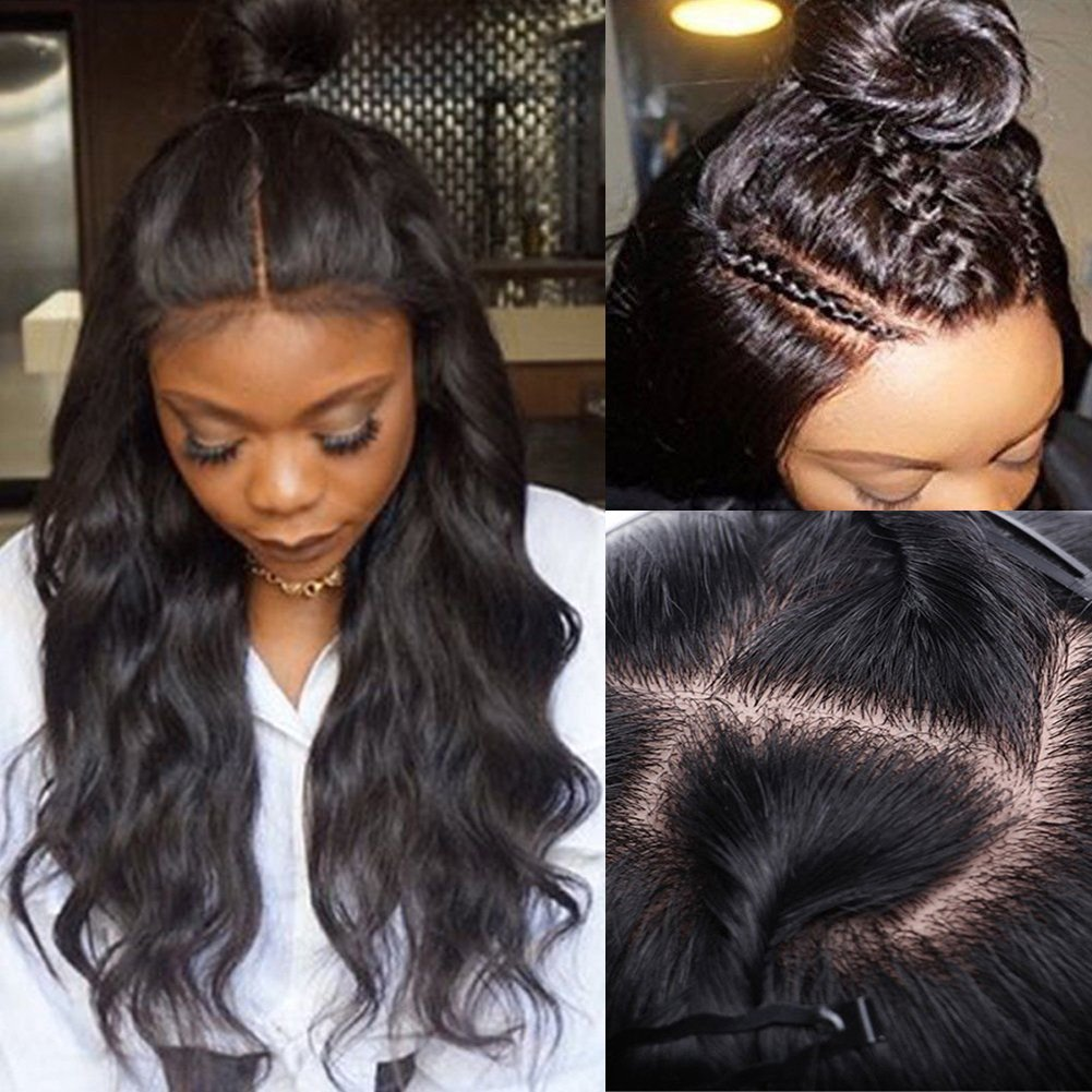 Amazoncom Silk Base Full Lace Wig Human Hair With Baby Hair Pre