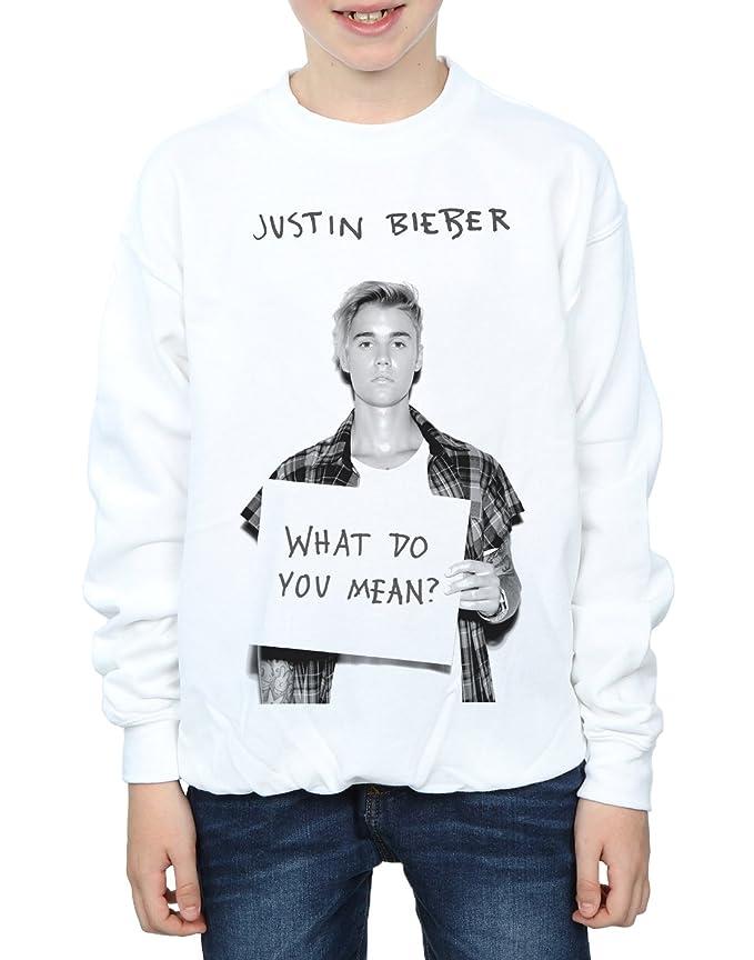 Justin Bieber niños What Do You Mean? Camisa De Entrenamiento: Amazon.es: Ropa y accesorios