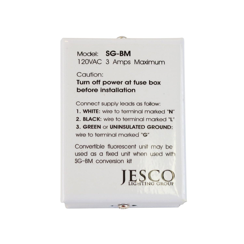 Amazon.com: Jesco Lighting SG-BM Commercial Grade Hard-Wire ...