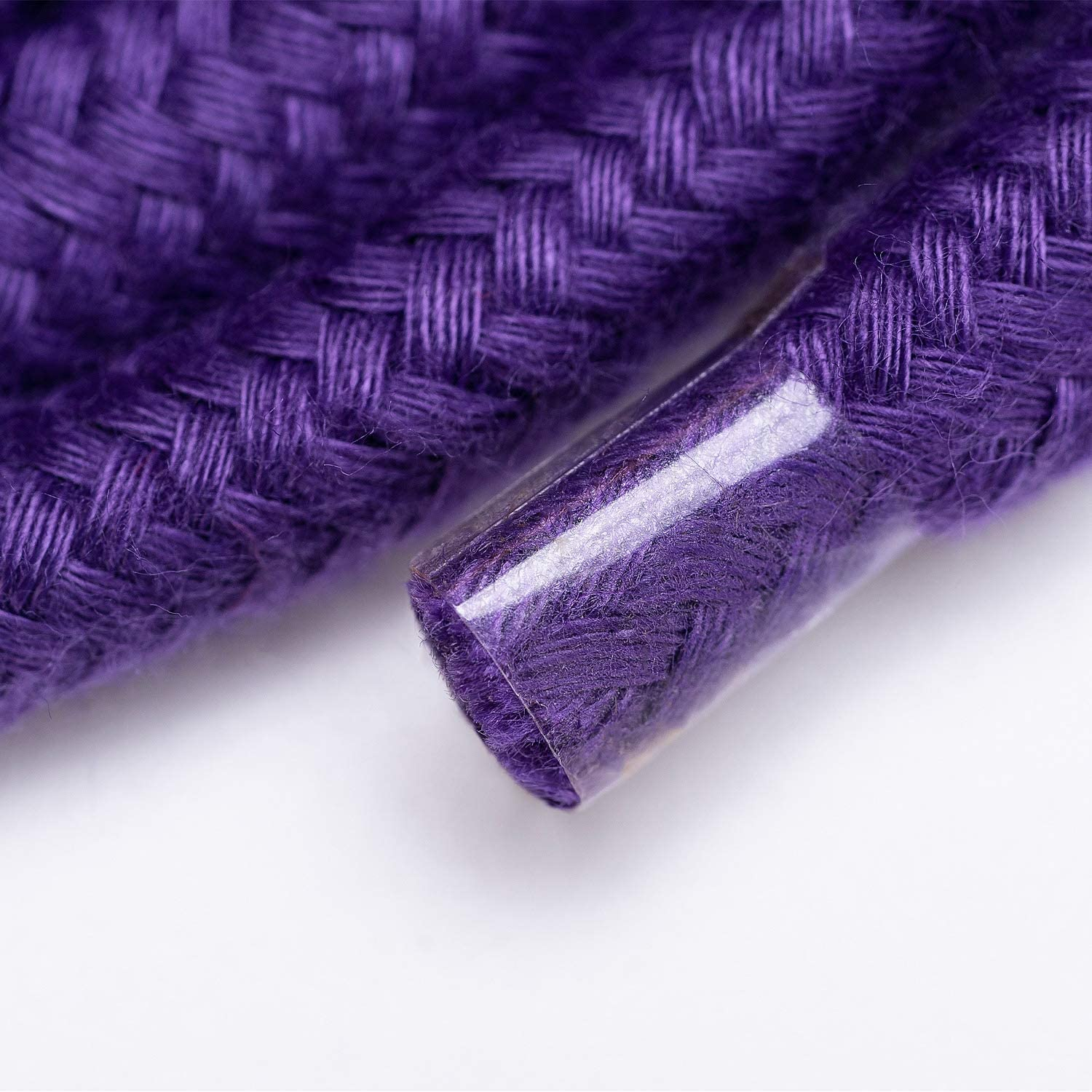 Soft Cotton Rope 32 feet//10m 8mm 2 Pack of Purple 1//3 inch Diameter Twisted Braided Multi-Function Natural Utility Durable Long