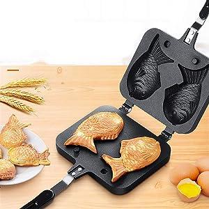 Taiyaki Pan Fish shape, Waffle Pan Cake Pan Bread Waffle Maker Home Cooking Fish-shaped Hot Cake Maker