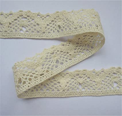 10m 1.5cm White Lace Bridal Wedding Trim Ribbon CRAFT Cotton Crochet