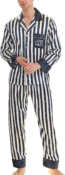TONGS Vintage Pijama de Los Hombres de Rayas Pijama de 2 ...