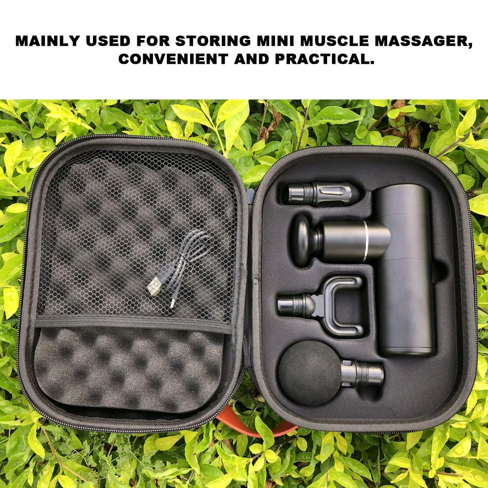 F/ür Hypervolt Plus Faszienpistole Aufbewahrungsbox Kann 5 Massagek/öpfe f/ür Massagepistole Aufbewahrungstasche Aufbewahrungstasche Massagepistole Muskelmassageger/ät Fall Aufbewahrungsbox