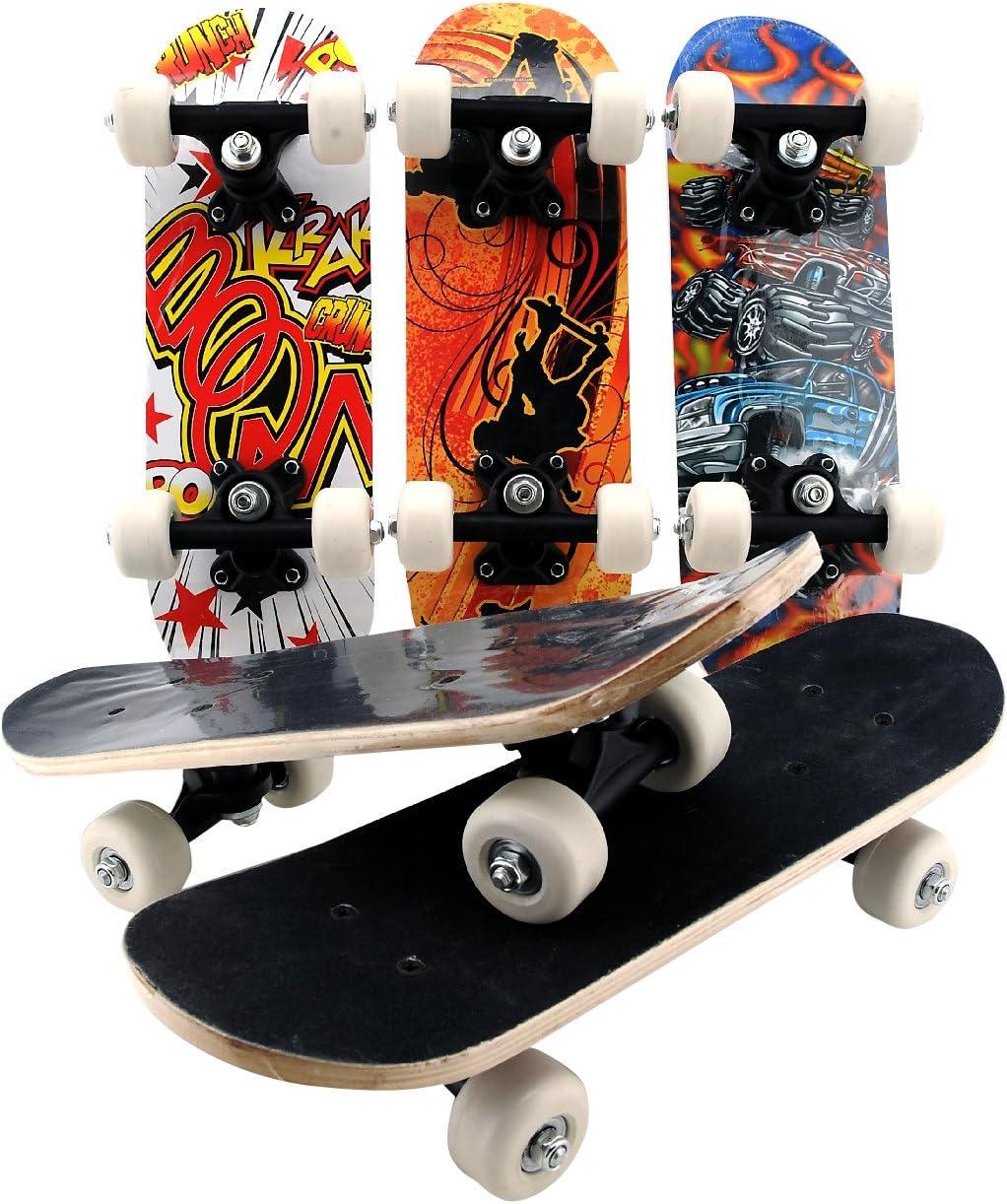 Globo Toys Globo 36715 43 x 13 x 1.1 cm 5 Assorted Summer China Maple Mini Skateboard