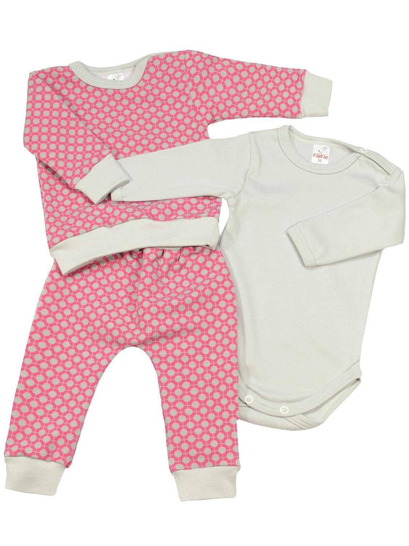 3 TLG. Set KleKle Baby M/ächen Bekleidung Set 22834