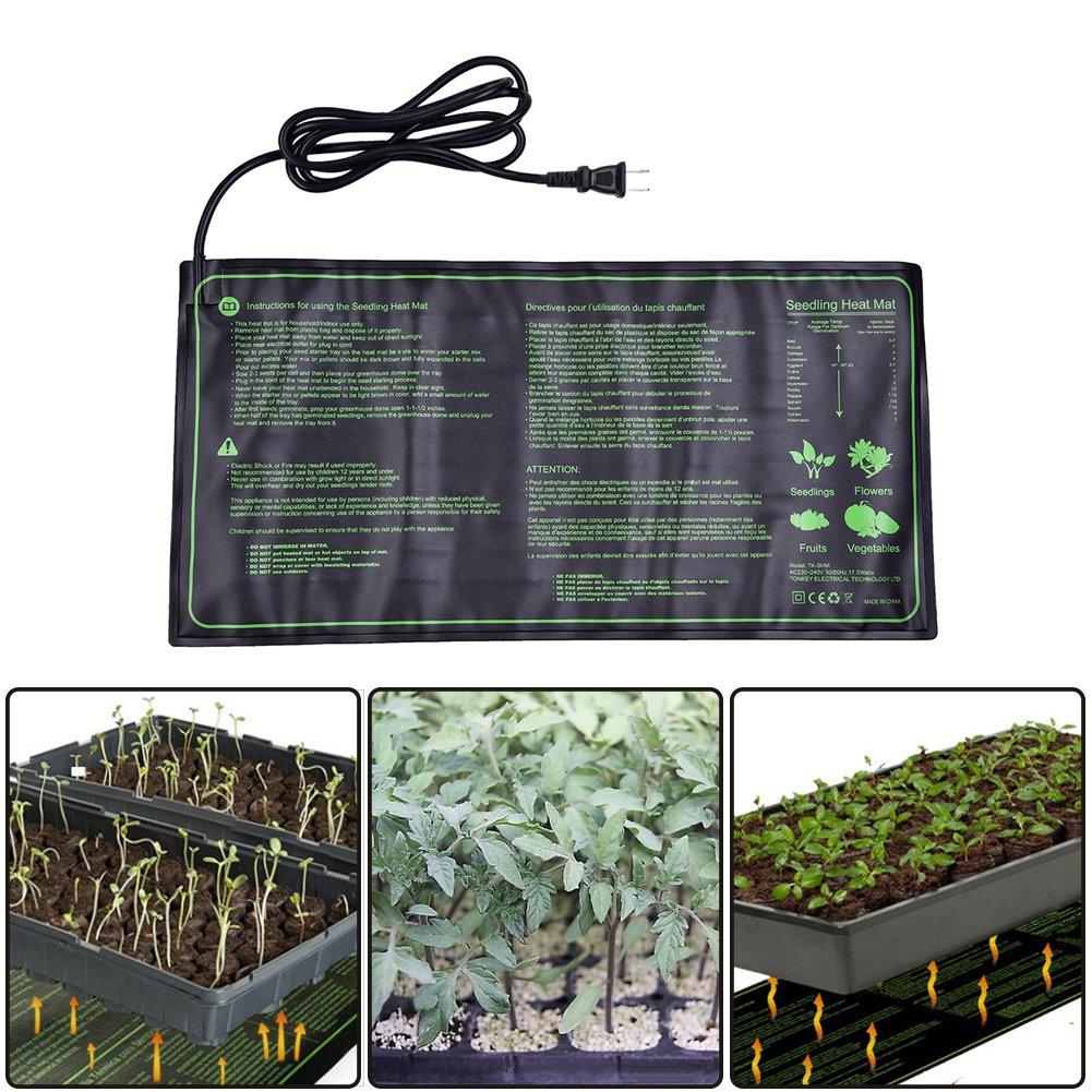 Lembeauty Seedling Heat Mat, Durable Waterproof Hydroponic Seedling Plant Mat Warm Hydroponic Heating Pad for Indoor Outdoor Gardening, 10
