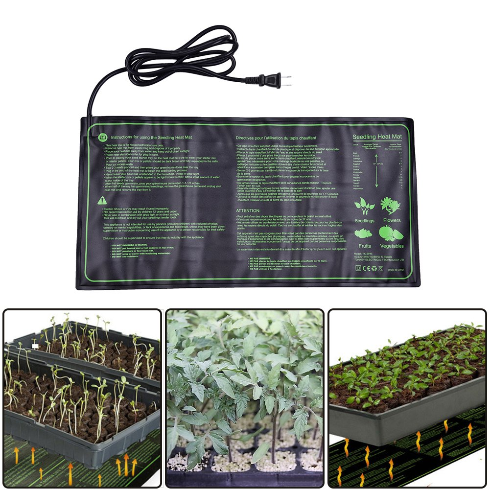Seedling Heat Mat,18W Waterproof Plant Warm Mat Hydroponic Heating Pad for Indoor Seedling and Germination,10 x 20.75 Inch by cheerfullus